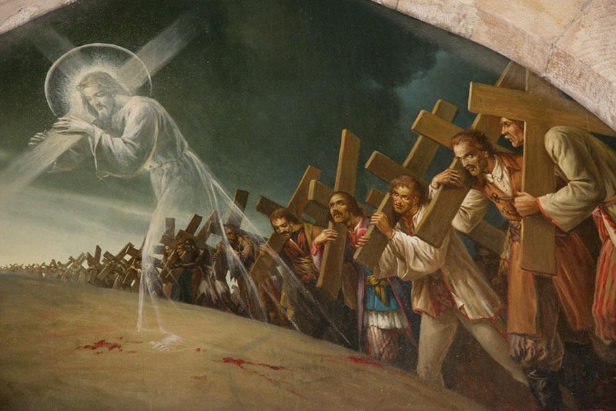 Jeśli kto chce iść za Mną, niech się zaprze samego siebie, niech co dnia weźmie swój krzyż i niech Mnie naśladuje